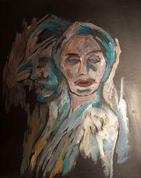 Acrylmalerei, Skizze, Abend, Malerei