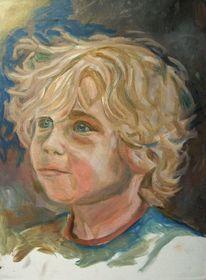 Portrait, Blond malerei, Ölmalerei, Malerei