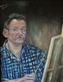 Malerei, Selbstportrait, Cordular,