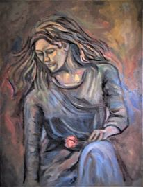 Rose, Malerei, Frau
