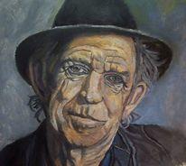 Portrait, Mann, Malerei, Musiker