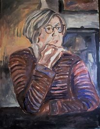 Malerei, Portrait, Frau,