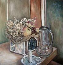 Stillleben, Trockenblumen, Malerei