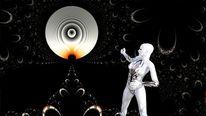 Mond, Frau, Universum, Abstrakt