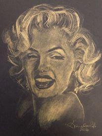 Frau, Portrait, Zeichnung, Skizze
