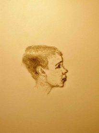 Blick, Fokus, Junge, Portrait