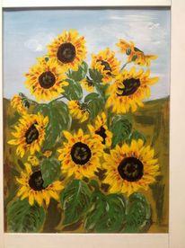 Sonnenblumen, Pflanzen, Landschaft malerei, Malerei