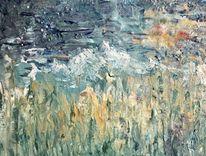Farben, Landschaft, Acrylmalerei, Abstrakt
