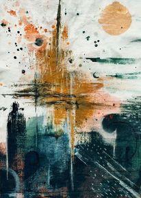 Abstrakt, Farben, Malerei, Modern art
