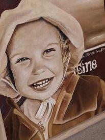 Alt, Lächeln, Kind, Portrait