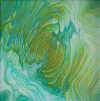 Abstrakt, Farben, Acrylmalerei, Pouring