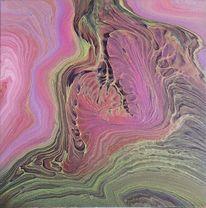 Pouring, Mischtechnik, Farben, Abstrakt