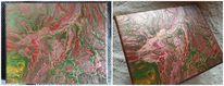 Pouring, Acrylmalerei, Abstrakt, Farben