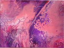 Farben, Pouring, Abstrakt, Acrylmalerei
