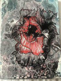 Blumen, Mystik, Acrylmalerei, Malerei