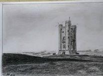Broadway, Turm, England, Zeichnungen