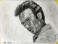 Bleistiftzeichnung, Clint eastwood, Zeichnungen,
