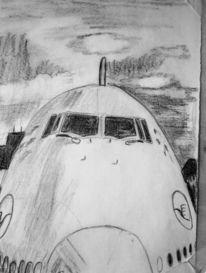Bleistiftzeichnung, Ruhen, Flugzeug, Zeichnungen