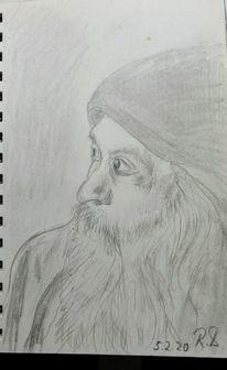 Guru, Indien, Pune, Zeichnungen