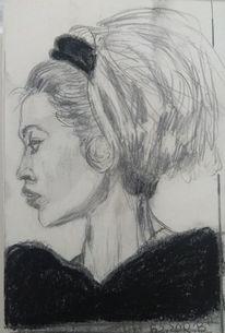 Schön, Bardot, Frau, Zeichnungen