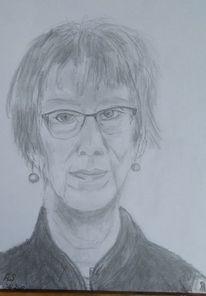 Skizze, Frau, Bleistiftzeichnung, Zeichnungen