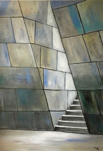 Treppe, Architektur, Acrylmalerei, Malerei