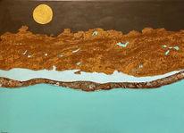Abstrakt, Landschaft, Rost, Malerei