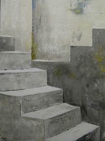 Stufe, Architektur, Acrylmalerei, Malerei