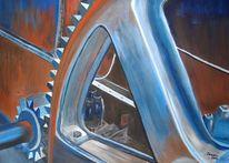 Acrylmalerei, Technik, Maschine, Malerei