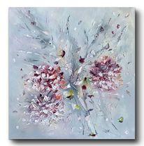 Pflanzen, Hortensien, Ölmalerei, Malerei