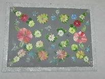 Acrylmalerei, Blüte, Seide, Freude
