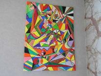 Leben, Freude, Farben, Acrylmalerei
