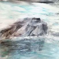Wasser, Eis berg, Malerei, Acrylmalerei