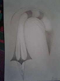 Skurril, Bleistiftzeichnung, Surreal, Rakete