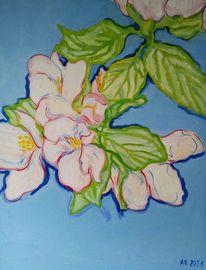 Apfel, Blüte, Blumen, Malerei