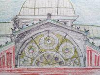 Stadt, Architektur, Zeichnungen, Hamburg