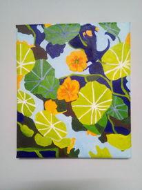 Garten, Sommer, Blumen, Malerei