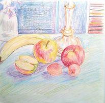 Stillleben, Obst, Zeichnungen