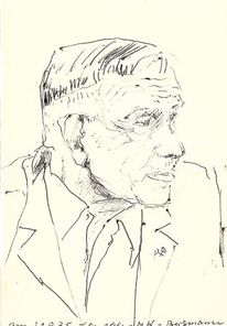 Portrait, Martha krug, Zeichnung, Zeichnungen