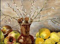 Aquarellmalerei, Stillleben, Martha krug, Aquarell
