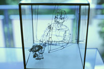 Figur, Draht, Tiere, Drahtplastik