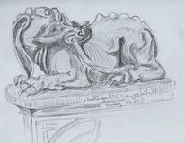 Schnitzkunst, Nördlingen, Bleistiftzeichnung, Zeichnungen
