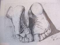 Füsse, Dürer, Bleistiftzeichnung, Zeichnungen