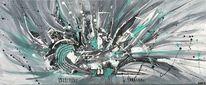 Malerei abstrakt, Acrylmalerei, Spachteltechnik, Gemälde