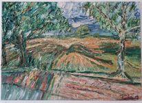 Undeloh, Lüneburger heide, Landschaft, Ölmalerei