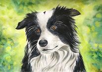 Aquarellmalerei, Malerei, Gemälde, Schäferhund