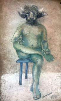Figur, Portrait, Akt taurus, Malerei