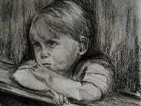 Kind, Junge, Portrait, Zeichnungen