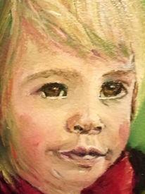 Kleinkind, Portrait, Malerei