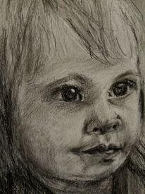Portrait, Mädchen, Kleinkind, Zeichnungen